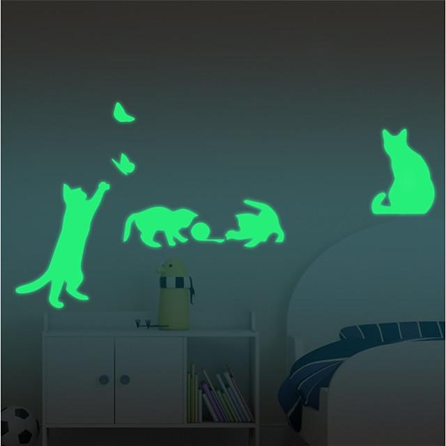 Halloween / عطلة ملصقات الحائط لواصق حائط الطائرة / لواصق لواصق مفتاح الاضاءة, ABS + PC تصميم ديكور المنزل جدار مائي جدار / نافذة زخرفة 1PC / قابل للنقل