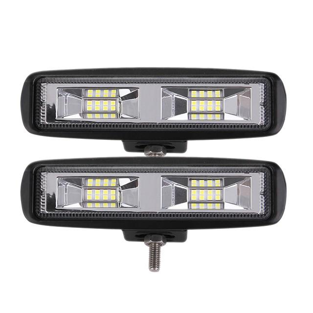 2pcs سيارة لمبات الضوء 24 W Integrated LED 2400 lm 16 LED أضواء الخارج من أجل عالمي جميع الموديلات كل السنوات