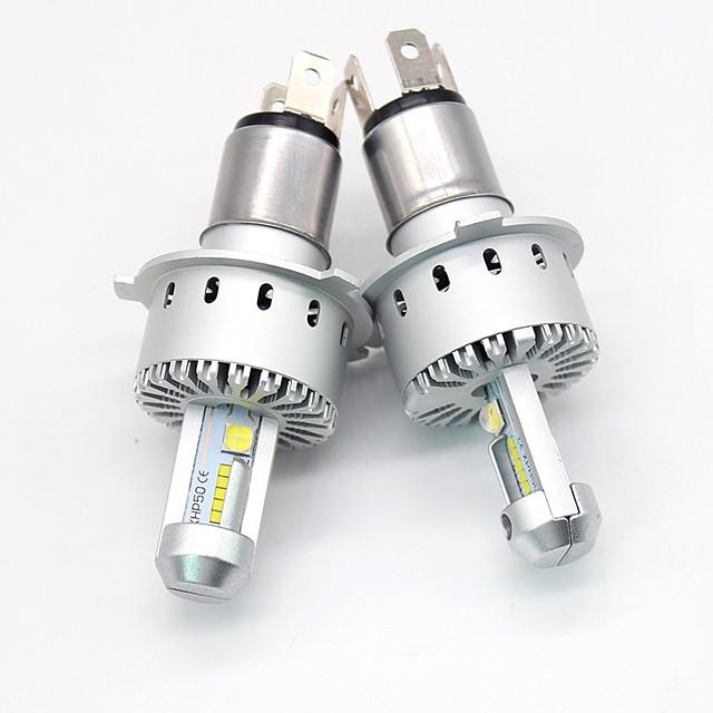 SO.K Automatique LED Lampe Frontale 9003 / H7 / H4 Ampoules électriques 12000 lm LED SMD 40 W 12 Pour Toutes les Années 2pcs