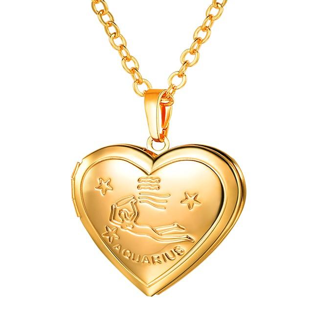 Collier Pendentif Femme Long Gravé Médaillon Cœur dames Romantique Mode Heart Dorée Argent 55 cm Colliers Tendance Bijoux 1pc pour Cadeau Quotidien