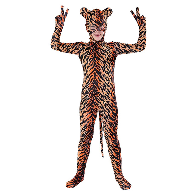Costumes zentai à motifs Costume de Cosplay Costume de peau Animal Enfant Boas et Plumes Costumes de Cosplay Homme Femme Motif Fourrure d'Animaux Halloween Carnaval Le Jour des enfants