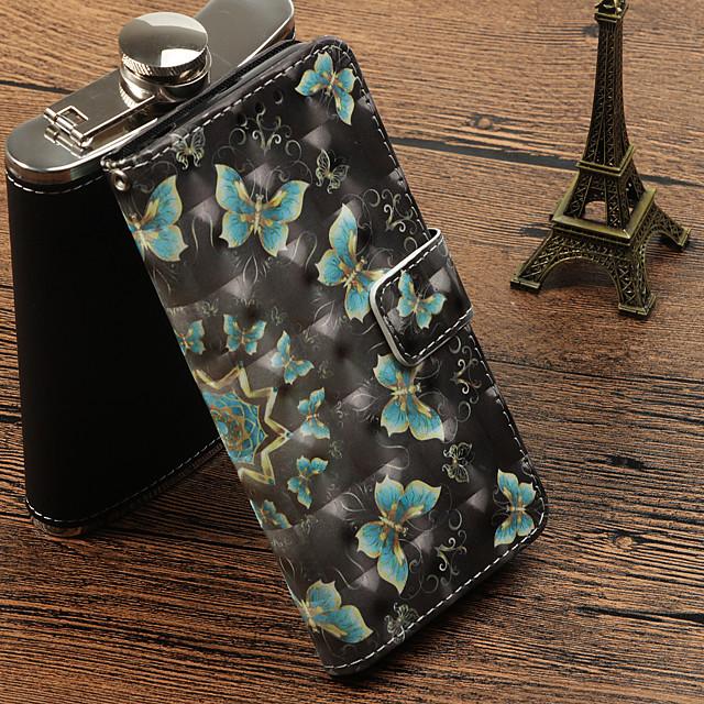 غطاء من أجل Samsung Galaxy J7 (2017) / J5 (2017) / J3 (2017) حامل البطاقات / مع حامل / قلب غطاء كامل للجسم فراشة قاسي جلد PU