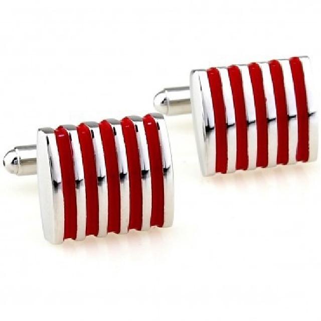 أزرار أكمام علم رسمي موضة بروش مجوهرات أحمر من أجل رسمي متخصص