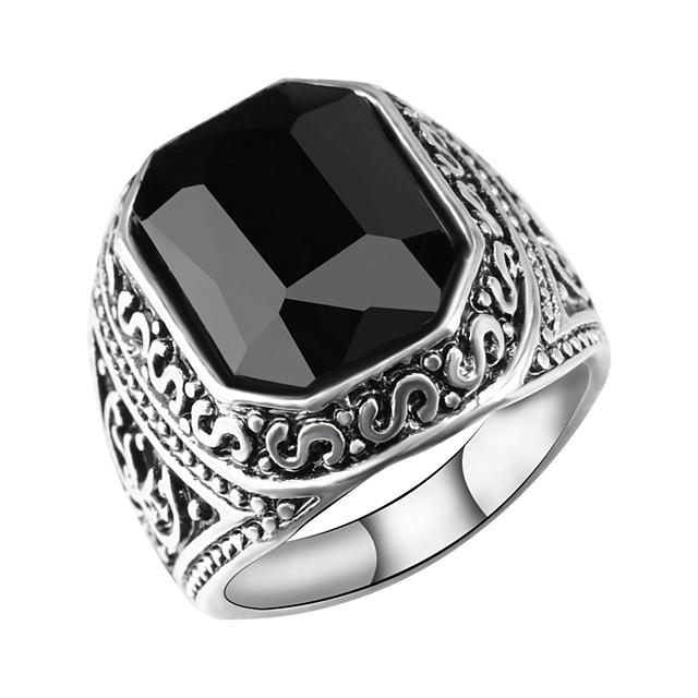 Band Ring Gol Negru Rosu Reșină Aliaj Credinţă Clasă Vintage European La modă 1 buc 7 8 9 10 / Bărbați / Inel de declarație / Inel