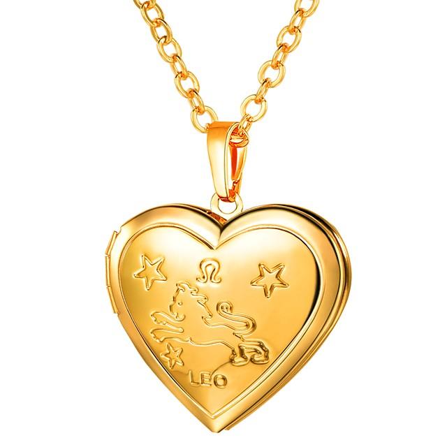 نسائي قلائد الحلي طويل منقوش مدلاة قلب سيدات رومانسي موضة نحاس ذهبي فضي 55 cm قلادة مجوهرات 1PC من أجل هدية مناسب للبس اليومي