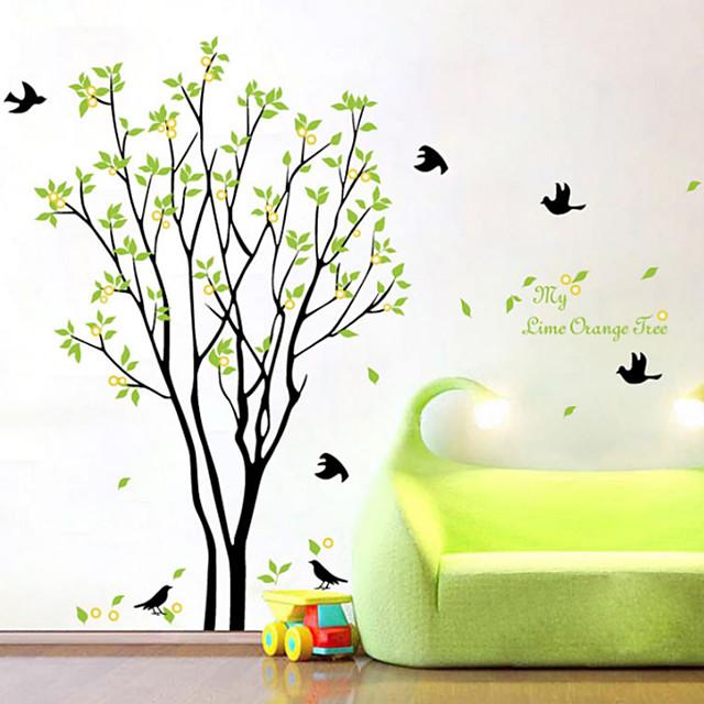 الأزهار / النباتية ملصقات الحائط لواصق حائط الطائرة لواصق حائط مزخرفة, الفينيل تصميم ديكور المنزل جدار مائي جدار / زجاج / الحمام زخرفة 1PC / قابل اعادة الوضع