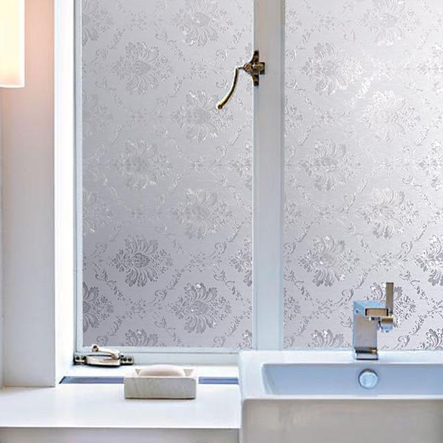 ملصقات الحائط مت / معاصر 100 cm 45 cm ملصق النافذة / بدون لمعة غرفة المعيشة / غرفة حمام / شوب / مقهى PVC ملصقات الحائط