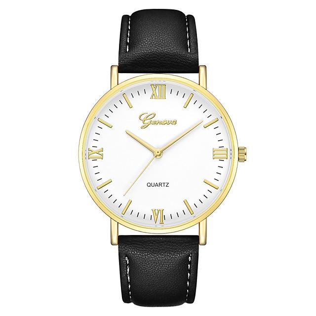 Geneva نسائي ساعة المعصم كوارتز سيدات ساعة كاجوال مماثل أبيض / البيج أسود أسود-أسمر / سنة واحدة / جلد / سنة واحدة