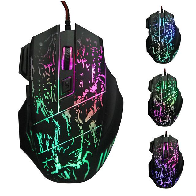 LITBest LOL السلكي USB لعب الفأر ضوء LED 4 مستويات DPI قابلة للتعديل مفاتيح 6 مفاتيح قابلة للبرمجة