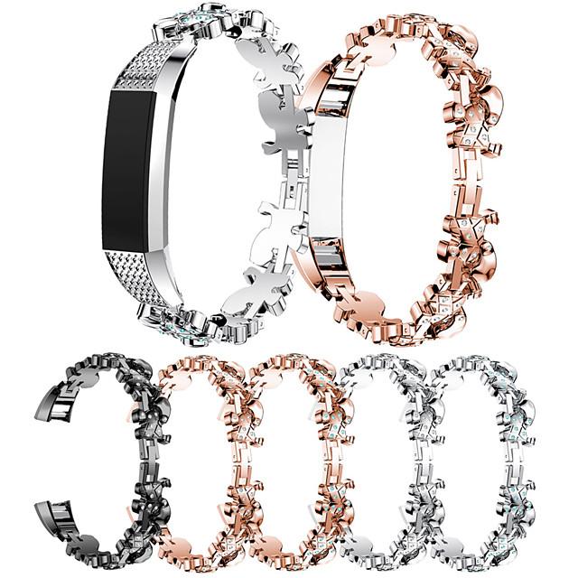 Klokkerem til Fitbit Alta HR / Fitbit Alta Fitbit Sportsrem / Smykkedesign Rustfritt stål / Keramikk Håndleddsrem