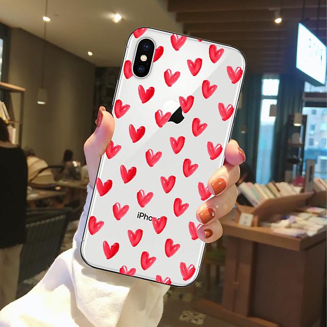 Coque Pour Apple iPhone 11 / iPhone 11 Pro / iPhone 11 Pro Max Transparente / Motif Coque Cœur Flexible TPU