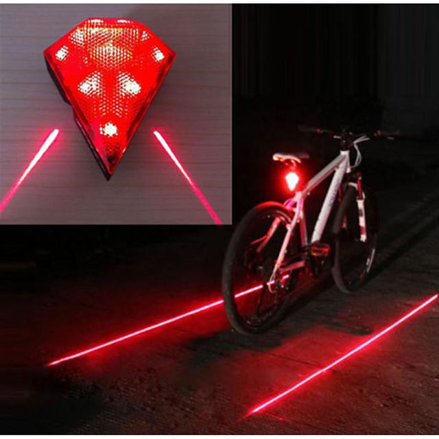 Laser LED Eclairage de Velo Eclairage de Vélo Arrière Eclairage sécurité / feu clignotant velo VTT Vélo tout terrain Vélo Cyclisme Imperméable Modes multiples Super brillant Portable 14500 20 lm