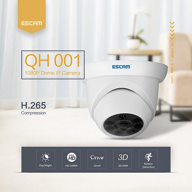 إسكام qh001 onvif h.265 1080p p2p ir قبة كاميرا ip مع وظيفة التحليل الذكية