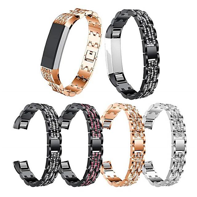 Bracelet de Montre  pour Fitbit Alta HR / Fitbit Alta Fitbit Bracelet Sport / Design de bijoux Acier Inoxydable / Céramique Sangle de Poignet