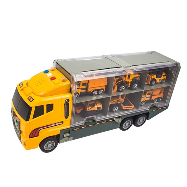 لعبة سيارات شاحنة النقل سيارة الحفريات سبيكة معدنية ألعاب سيارات صغيرة للمركبات أو هدايا أعياد الميلاد للأطفال 1 pcs