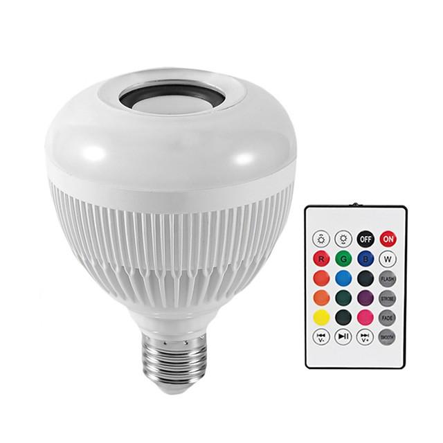 1PC 12 W مصابيح صغيرة LED 1200 lm E26 / E27 G95 28 الخرز LED مصلحة الارصاد الجوية بلوتوث Smart تخفيت RGBW 100-240 V / بنفايات