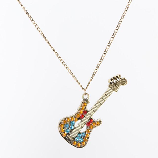 نسائي كريستال قلائد الحلي قلادة سحر فينتاج طويل موسيقى قيثارة سيدات كلاسيكي موضة حجر الراين سبيكة برونز 68 cm قلادة مجوهرات 1PC من أجل حفل / مساء هدية