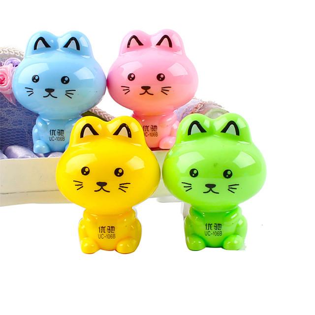 pisică în formă de creion ascuțitoare manual (culoare aleatorii)