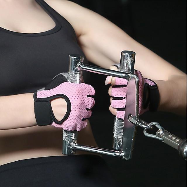 قفازات / قفازات التمرين / قفازات تمرين الملاكمة إلى يوغا / Fitness / الملاكمة التخميد / لزج / متنفس المواد التركيبية 1SET أسود / أزرق / زهري
