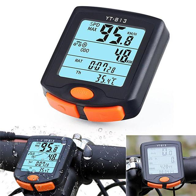 YT-813 자전거 디지털 장비 방수 스탑 와치 무선 산악 자전거 도로 사이클링 싸이클링