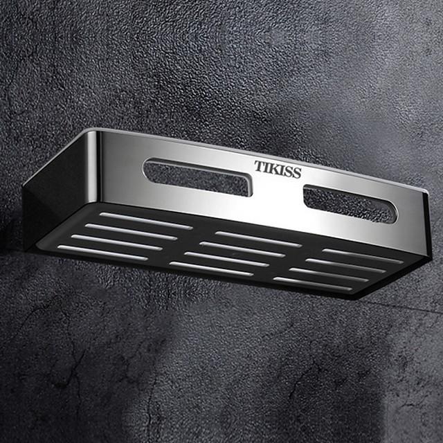 رف الحمام تصميم جديد / كوول معاصر الفولاذ المقاوم للصدأ / الحديد 1PC فردي مثبت على الحائط