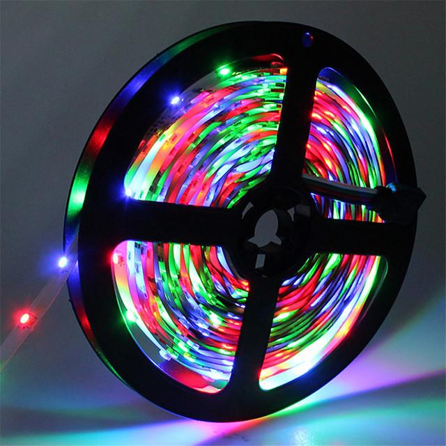 HKV® 5m LED bandes lumineuses RVB Tiktok Lights SMD 2835 8mm IP20 300LED ruban de diode flexible 12 V LED ruban LED bande pour maison flexible
