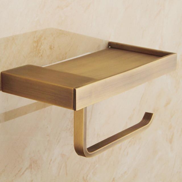 suport de perii de toaletă design premium / rece alama contemporană 1 buc suport de hârtie igienă montat pe perete