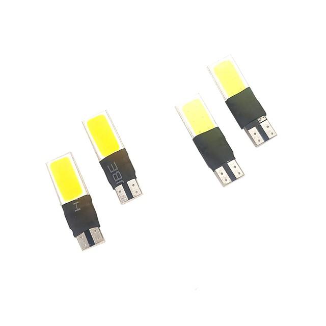 1 set de culori albe galbene cu două culori 99% modele de autovehicule adecvate 5w 400lm t10 lățime lumină citire lumină plăcuță de înmatriculare lumină
