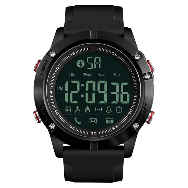 SKMEI رجالي ساعة رياضية ساعة عسكرية ساعة رقمية رقمي ترف مقاوم للماء رقمي أسود / سنة واحدة / سيليكون / ياباني / المنبه / رزنامه