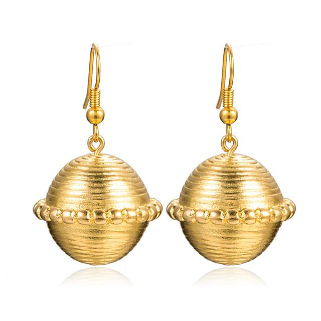 نسائي أقراط قطرة كلاسيكي ستايل كرة سيدات الأقراط مجوهرات أصفر من أجل زفاف مناسب للحفلات 1 زوج