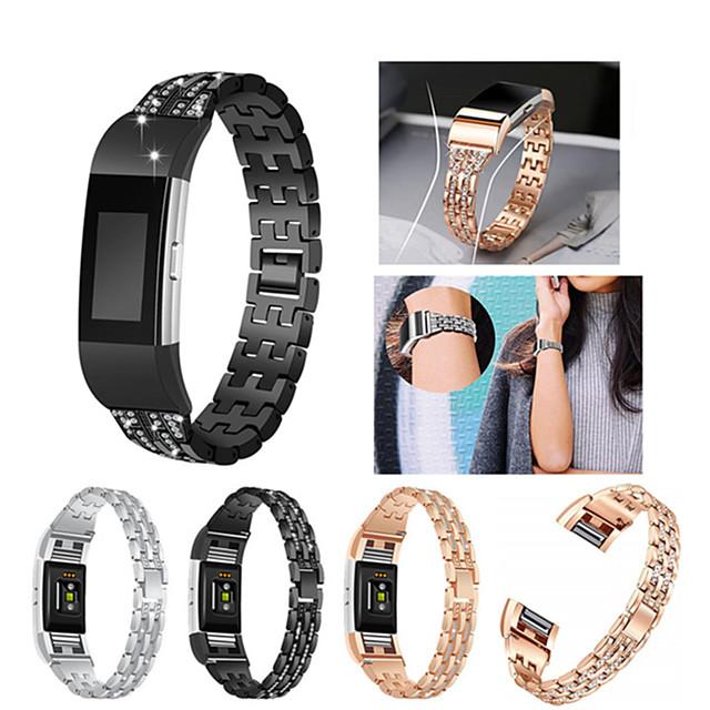 Urrem for Fitbit Charge 2 Fitbit Sportsrem / Smykkedesign Rustfrit stål / Keramik Håndledsrem