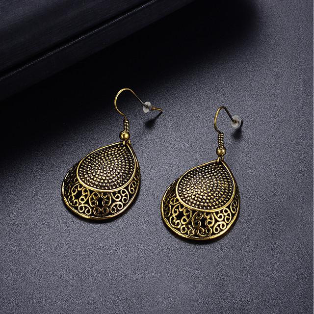 Femme Boucle d'Oreille Pendantes Tendance dames Mode Coloré Des boucles d'oreilles Bijoux Bronze Pour Soirée Anniversaire 1 paire