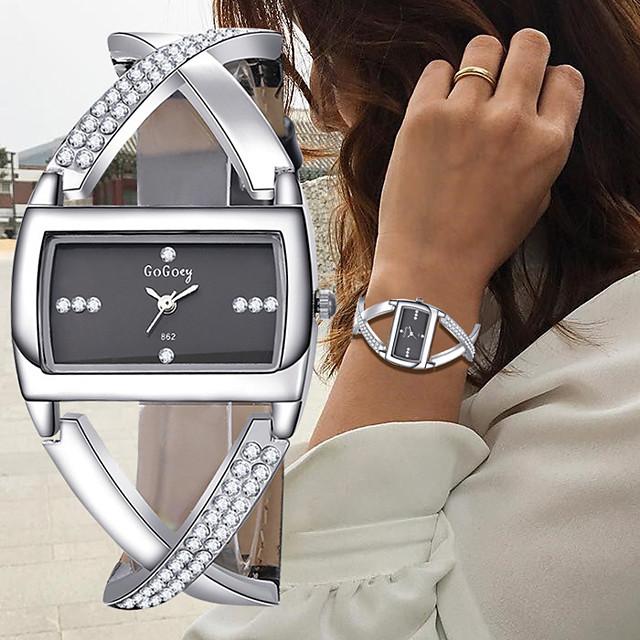 Γυναικεία Βραχιόλι Ρολόι Ρολόι Καρπού Diamond Watch Χαλαζίας κυρίες Χρονογράφος Αναλογικό Λευκό Μαύρο / Ενας χρόνος / Δέρμα / Ενας χρόνος / SSUO 377
