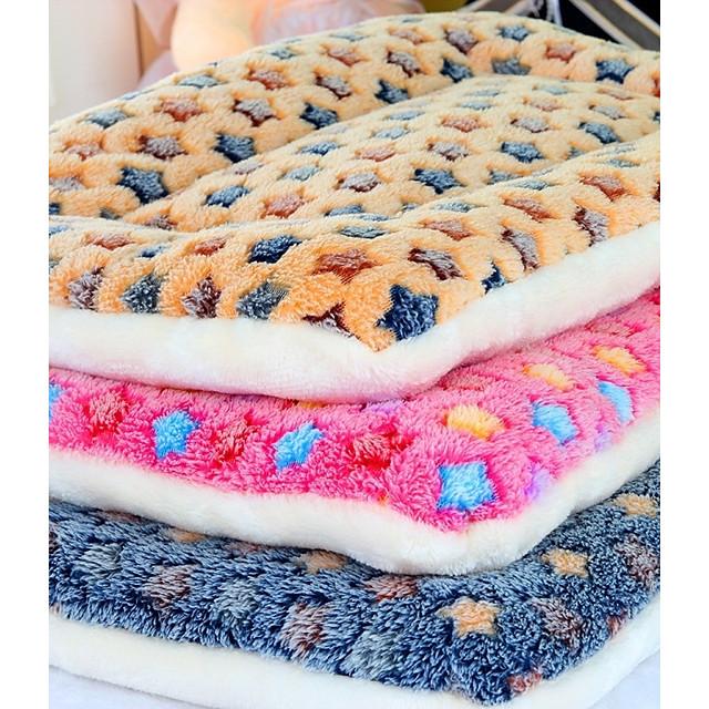 كلاب قطط مرتبة السرير أسرة بطانيات السرير ألوان متناوبة ناعم قابلة للطي قطن 50*30*5 cm