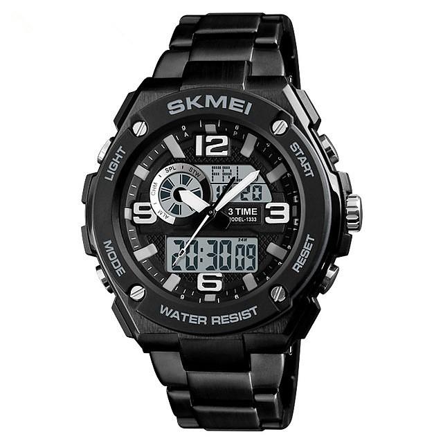 SKMEI رجالي ساعة رياضية ساعة رقمية رقمي ترف مقاوم للماء تناظري-رقمي أسود أحمر أزرق / ستانلس ستيل / رزنامه / الكرونوغراف / ساعة التوقف