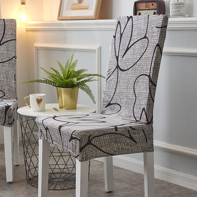 housse de chaise chaise de salle à manger housse super fit extensible amovible lavable courte chaise de salle à manger housse de protection housse de siège pour hôtel / salle à manger / cérémonie / ba