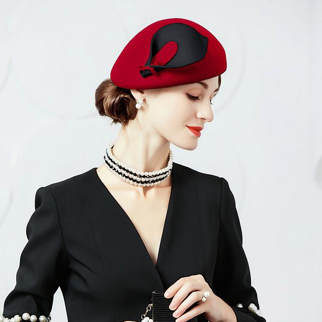 Lână / Cristal / Material Textil Kentucky Derby Hat / Diademe / Palarie cu 1 Nuntă / Ocazie specială / Party / Seara Diadema