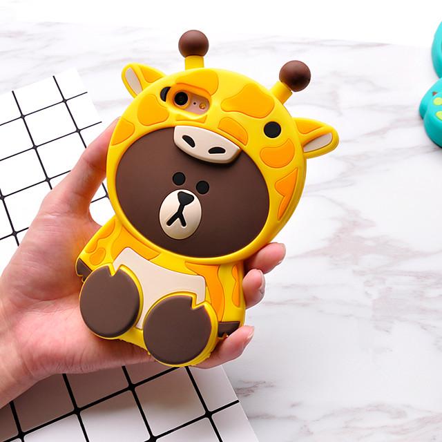 Pouzdro Uyumluluk Apple iPhone 7 Plus / iPhone 7 / iPhone 6s Plus Temalı Arka Kapak Karton / 3D Karikatür Yumuşak Silikon