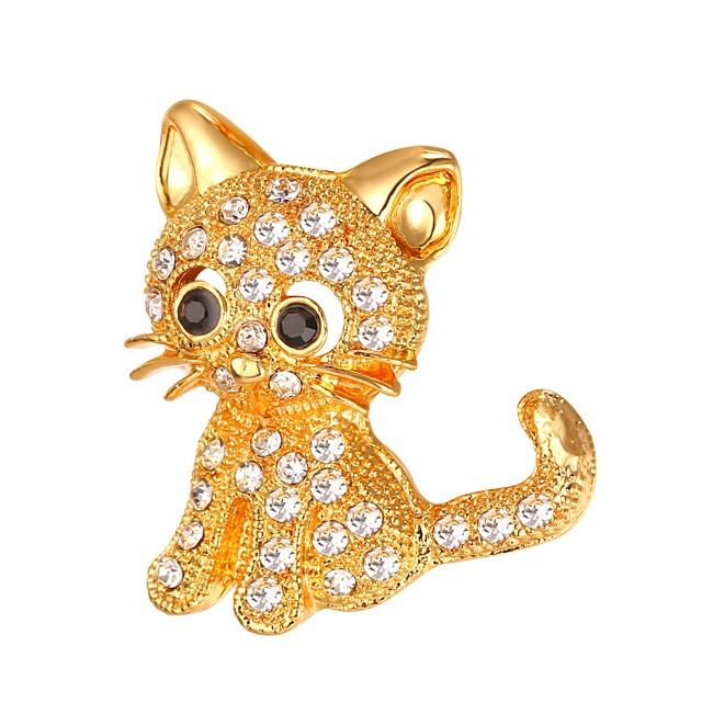 نسائي دبابيس ستايل حيوان سيدات موضة بروش مجوهرات ذهبي فضي من أجل هدية مناسب للبس اليومي