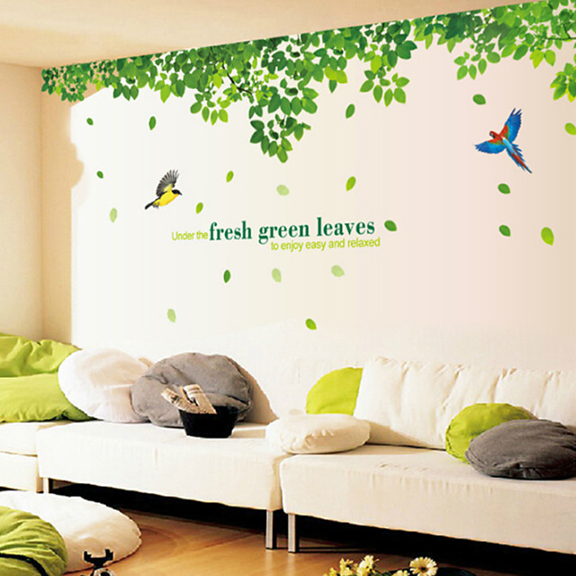الأزهار / النباتية ملصقات الحائط ملصقات الحائط الحيوان لواصق حائط مزخرفة, الفينيل تصميم ديكور المنزل جدار مائي جدار / زجاج / الحمام زخرفة 2pcs / قابل اعادة الوضع