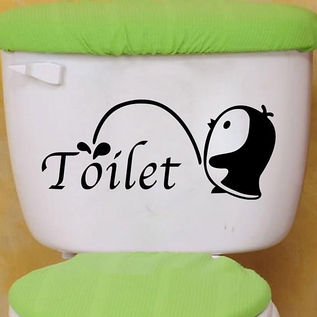 Životinje Zid Naljepnice Naljepnice za zidne zidove Naljepnice za WC, Vinil Početna Dekoracija Zid preslikača Toalet / Frižider Ukras 1pc / Ponovno namjestiti