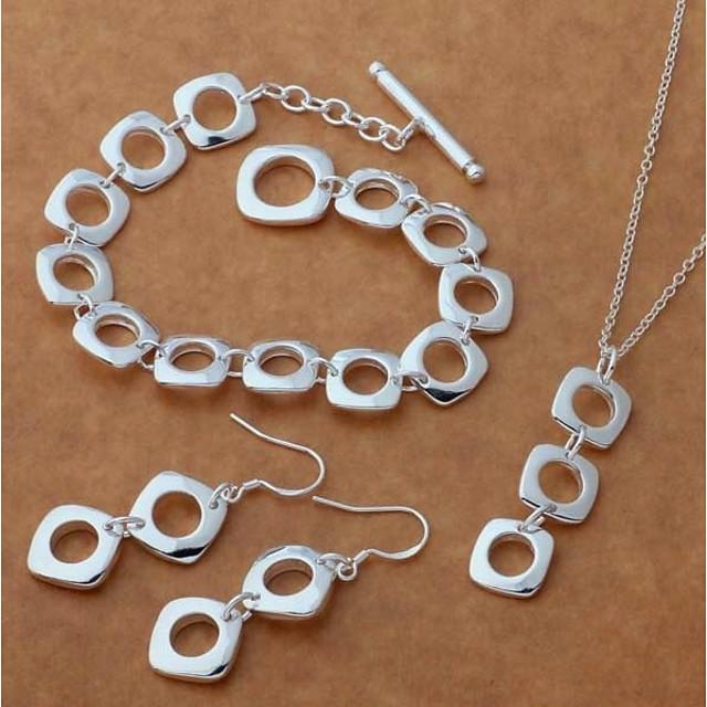 نسائي أقراط قطرة قلائد الحلي Silver Bracelets ستايل أثر خلاق سيدات أنيق بسيط S925 فضة الأقراط مجوهرات فضي من أجل هدية مواعدة