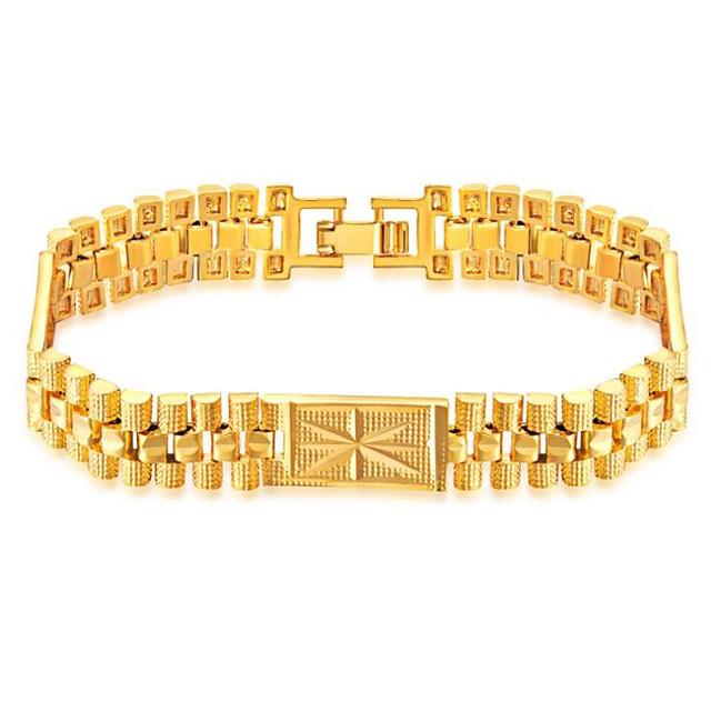 رجالي أسورة ستايل خلاق موضة نحاس مجوهرات سوار ذهبي من أجل مناسب للحفلات مناسب للبس اليومي