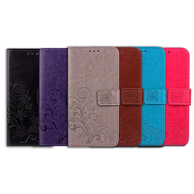 téléphone Coque Pour Apple Coque Intégrale Étui en cuir Etui folio iPhone 6s iPhone 6 Porte Carte Clapet Mandala Couleur unie Flexible faux cuir