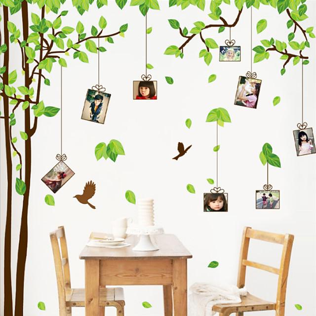 Květinový / Botanický motiv Samolepky na zeď Samolepky na stěnu Ozdobné samolepky na zeď, Vinyl Home dekorace Lepicí obraz na stěnu Stěna / Glass / koupelna Dekorace 2pcs / Nastavitelná poloha