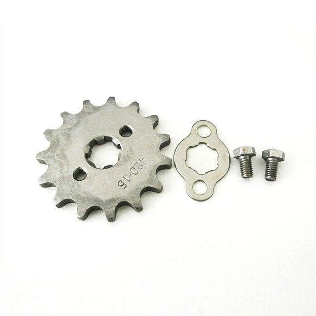 تعديل 420-15t-17mm الجبهة ضرس 17mm رمح 15tooth for ليفان 125cc محرك الترابية حفرة الدراجة