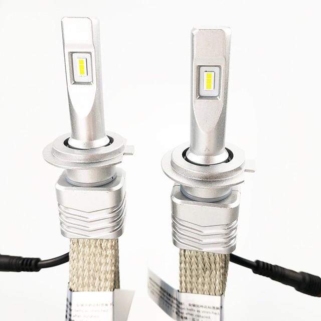 2 stk billyslyspærer 9006 (hb4), 9005 (hb3), h11, h7, h9, h10, h845w 6000lm vanntett frontlykt konverteringskit med zes chip lyskaster sett 6000k hvit farge lyshet