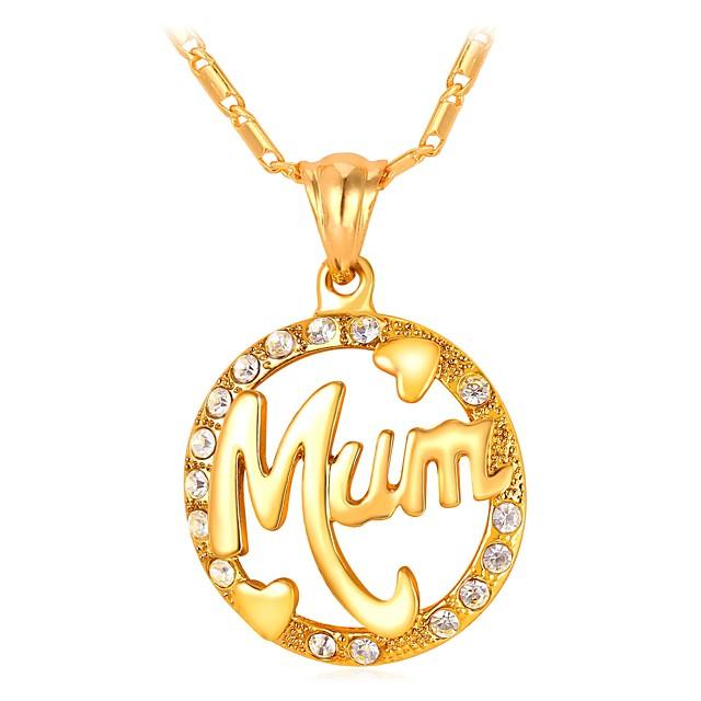 نسائي قلائد الحلي فراغ خارجي ابنة الأم سيدات موضة للأم نحاس ذهبي فضي 55 cm قلادة مجوهرات 1PC من أجل هدية مناسب للبس اليومي