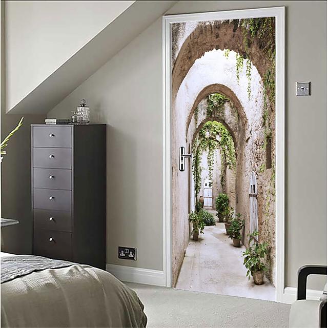حياة هادئة / 3D ملصقات الحائط لواصق ملصقات الباب, الفينيل تصميم ديكور المنزل جدار مائي زجاج / الحمام / نافذة زخرفة 1PC