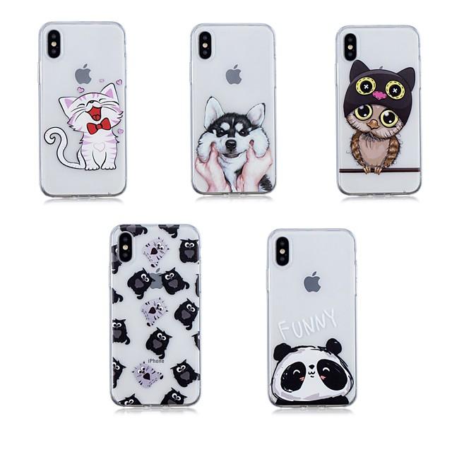 غطاء من أجل Apple iPhone X / iPhone 8 Plus / iPhone 8 شفاف غطاء خلفي حيوان ناعم TPU